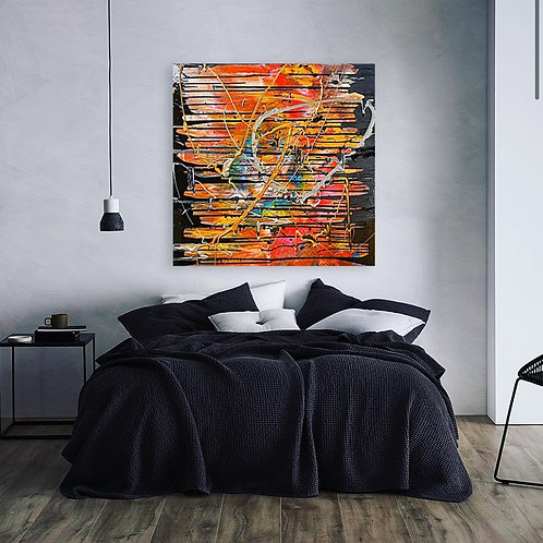 Break Free- Original Abstract Acrylic Painting by Pink May Khen