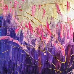 Ribak 100X100 CM Acrylic on canvas 💜 _r