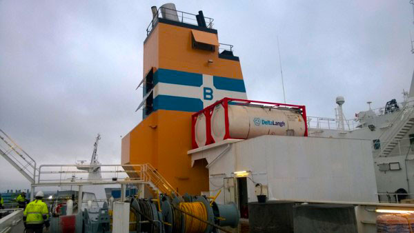 DeltaLangh's real eco scrubber  installed on M/V Bore Song