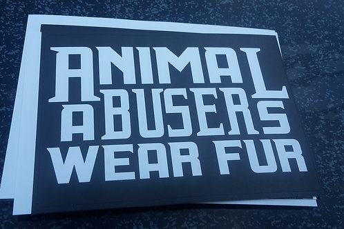 Animal abuser stickers