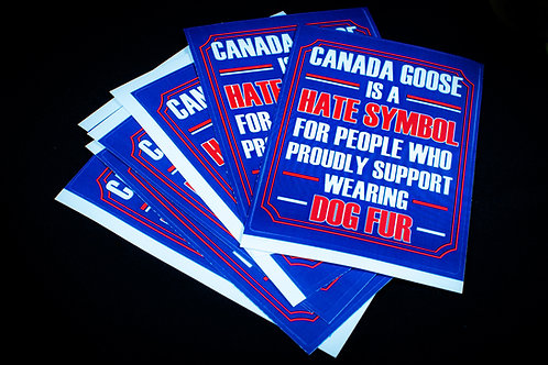 Fur Shaming Stickers Canada Goose