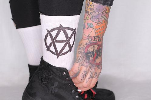 Vegan anarchy socks