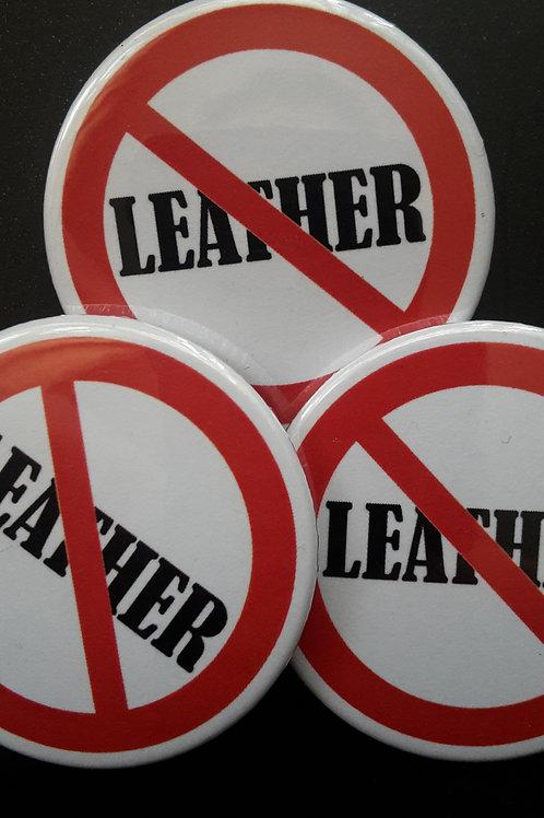 Anti leather badge