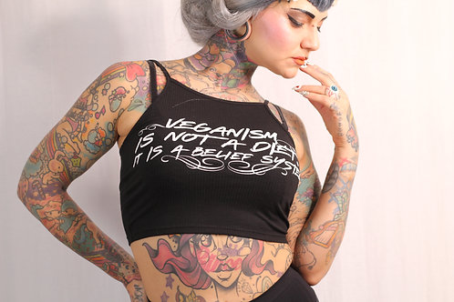 Veganism Crop top