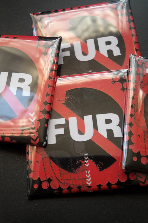 Anti fur badge