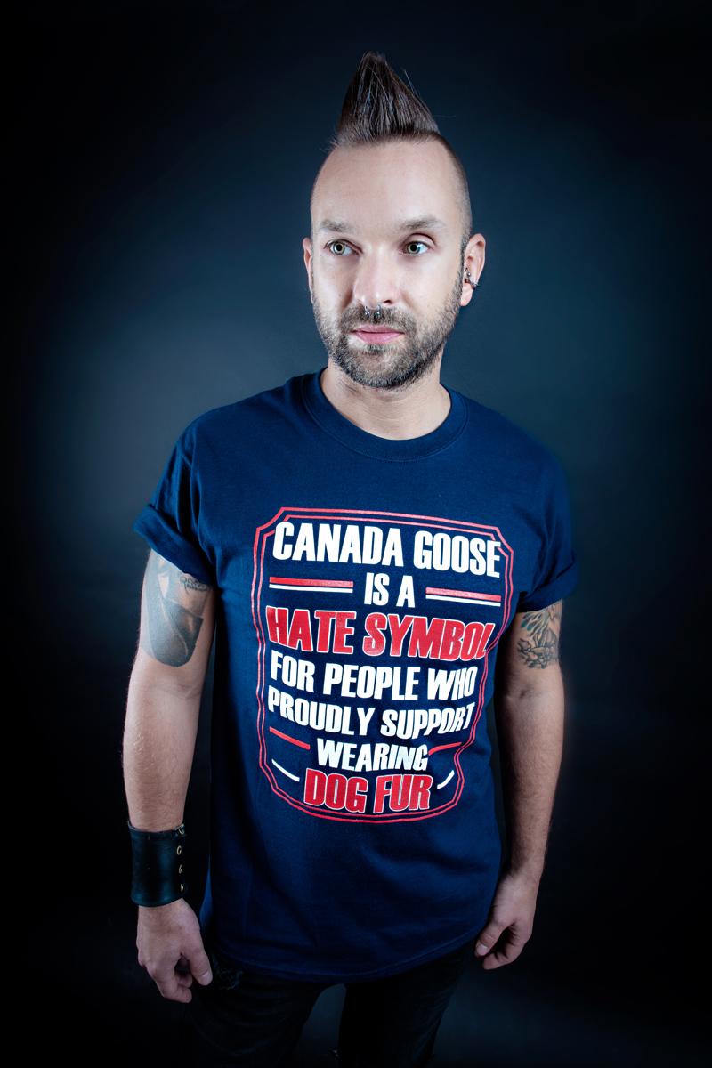 Anti canada goose unisex tee