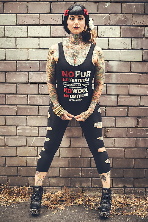 No Fur No Feathers Vest Top