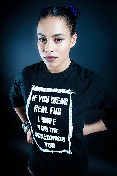 Plain Slogan Crew Neck Sweatshirt