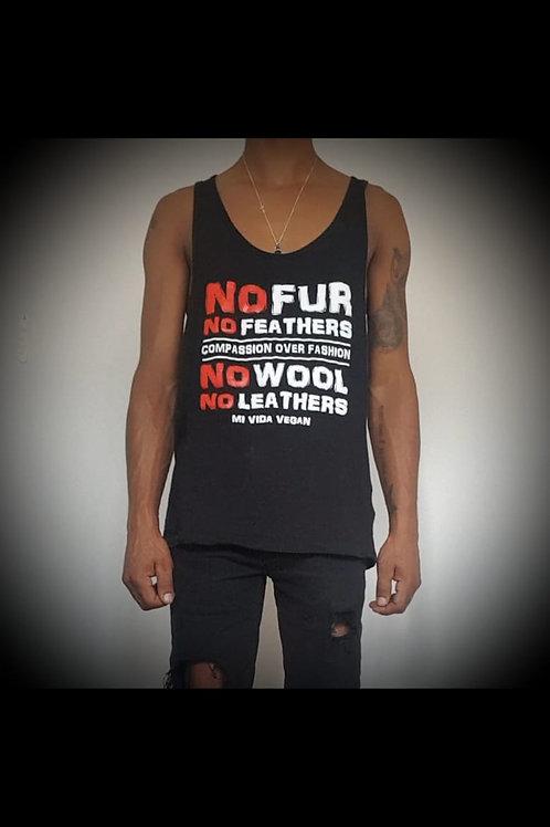 Man No Fur No Feathers Vest Top