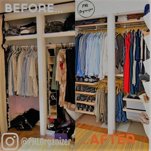 Small Master Closet Before and After