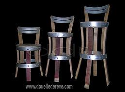 chaise tabouret tonneau de vin en douelle en barrique et en fûts de chêne,chaise en tonneau de vin,tabouret en tonneau de vin,tabouret de bar en douelle,chaise de bar en douelle,mobilier bar à vin