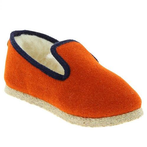 Charentaise – Chausse – mouton – Tweed Brique marine