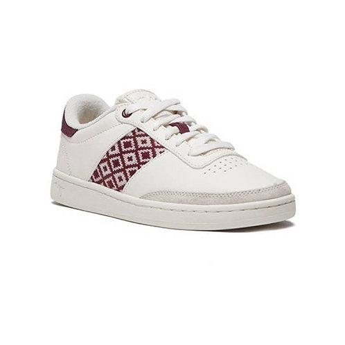Sneakers – N'Go – Da Lat, Blanc et bordeaux