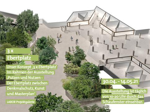 04|21 Unser Konzept '3 x Ebertplatz' im Rahmen der Ausstellung 'Putzen und Nutzen?'