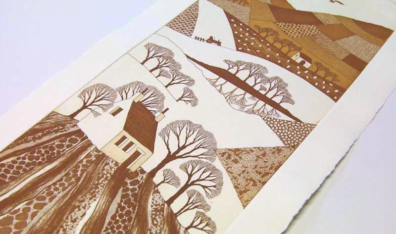 Rebecca Vincent monochrome etching proof