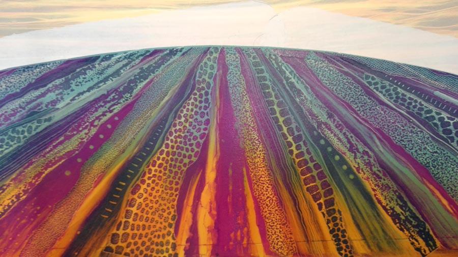 Rebecca Vincent monotype textures claret landscape