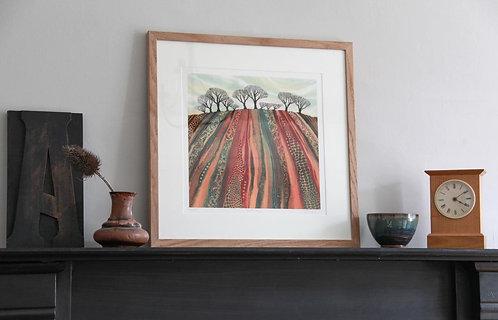 Earth Lines giclée print framed