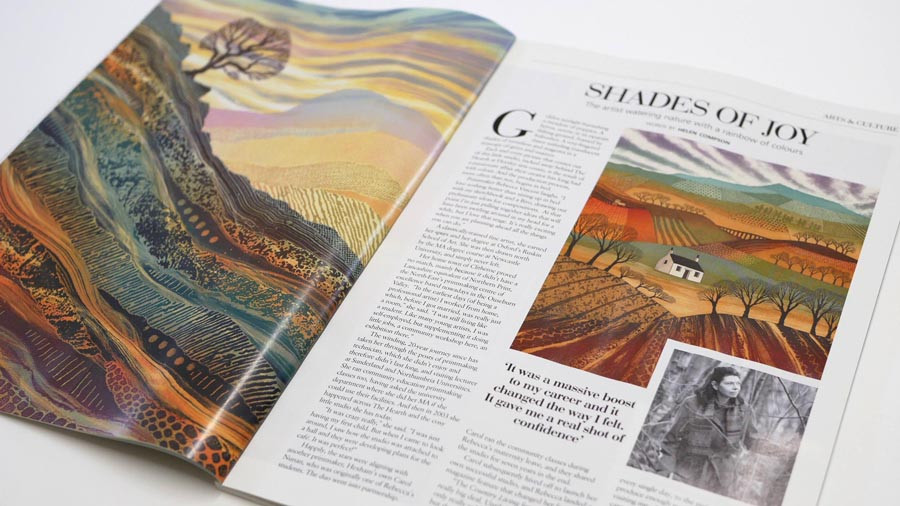 Tyne Valley Living magazine Rebecca Vincent feature Northumberland Art Helen Compson