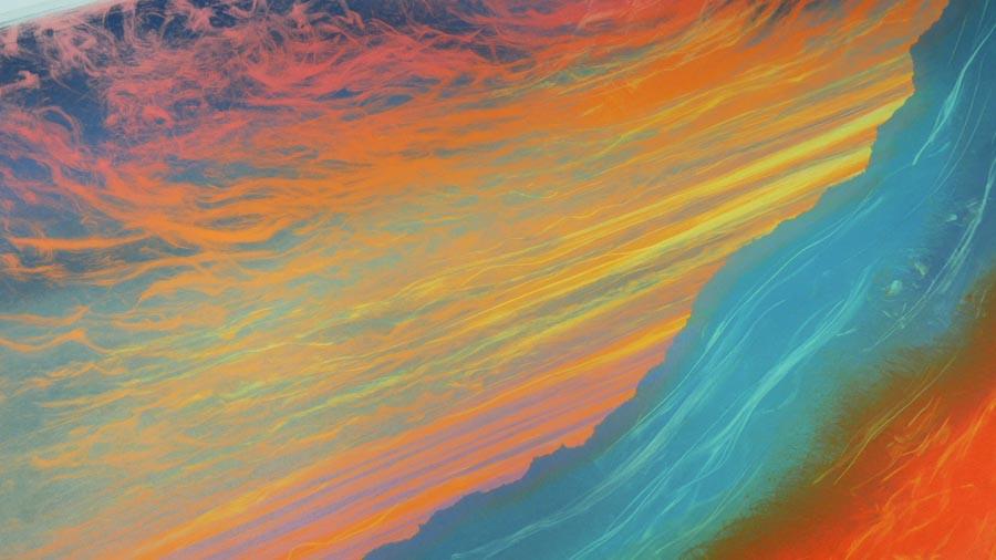 Rebecca Vincent sunset landscape work in progress