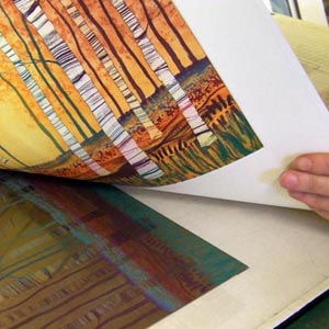 Rebecca Vincent Northumberland artist printing Silver Birch, Autumn Gold. What are etchings?