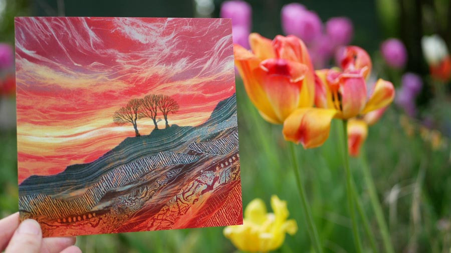 Rebecca Vincent Nrthumberland artist greetings cards tulips