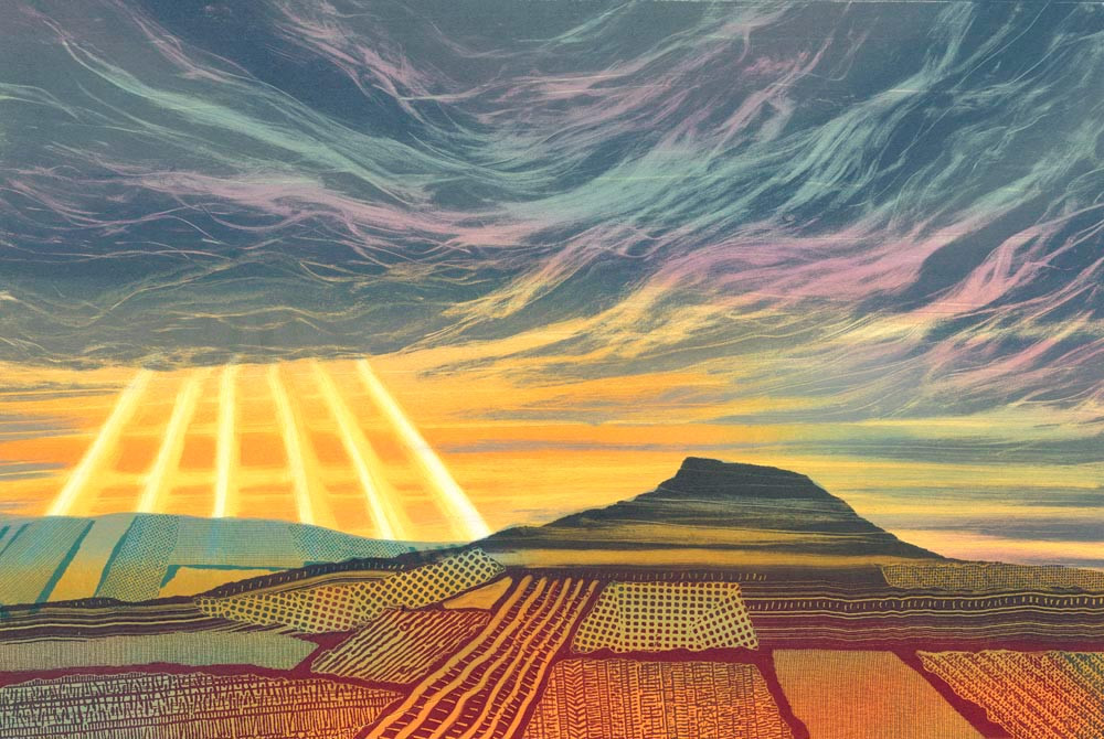Roseberry Topping Yorkshire painting by artist Rebecca Vincent landscape art