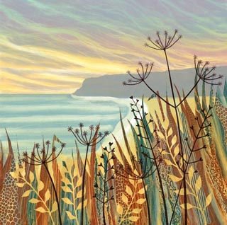 Hidden Sands Rebecca Vincent Northumberland artist landscape prints greeting cards