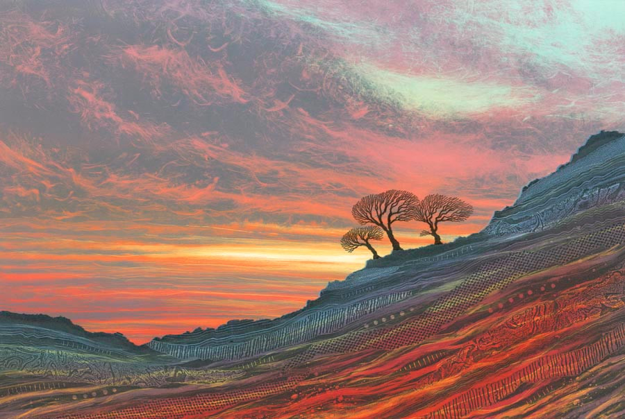 Rebecca Vincent North East artists sunset painting