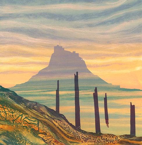 Sunrise Lindisfarne greetings card RV23