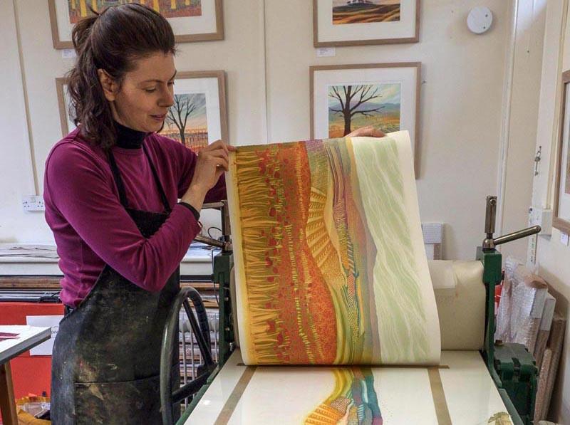 Rebecca Vincent Newcastle based artist UK landscape printmaker