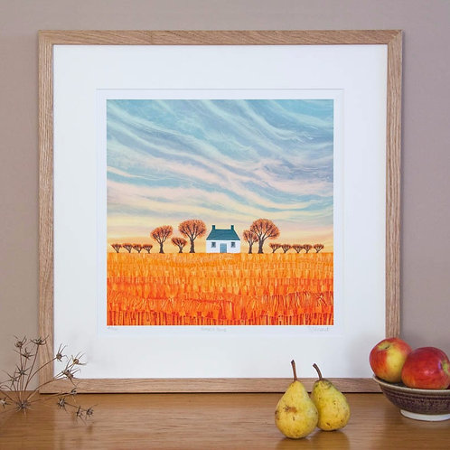 Harvest Home giclée print framed
