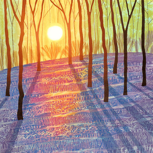 Rebecca Vincent bluebell woods painting art greetings card