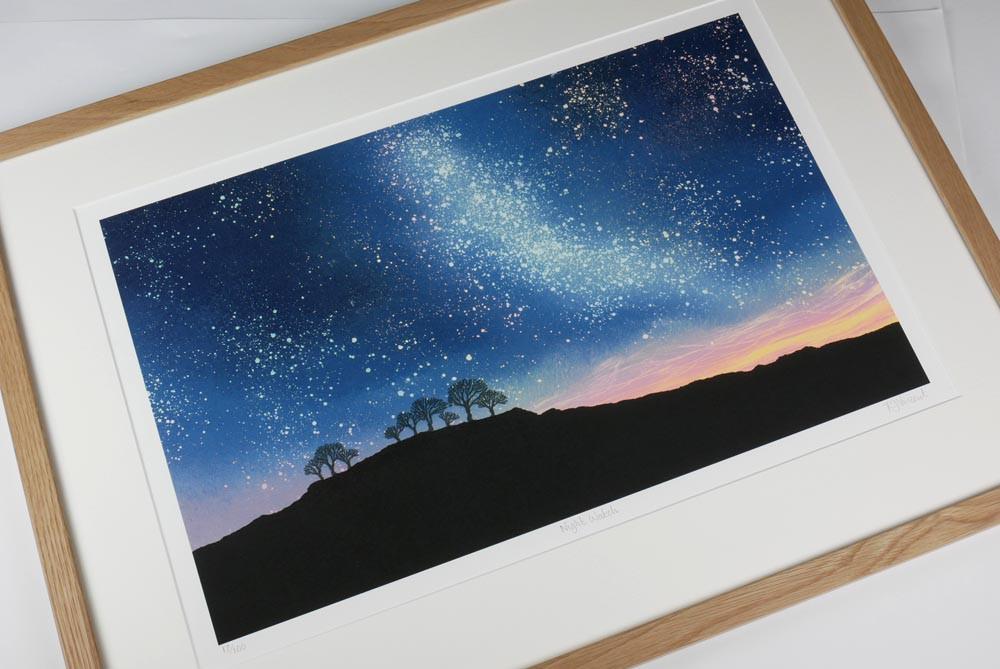 Starry Night sky print Rebecca Vincent Northumberland art