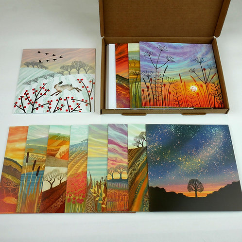 Rebecca Vincent greetings card pack favourites selection Northumberland art