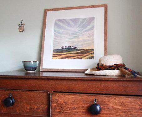 Sunrise Landscape giclée print framed