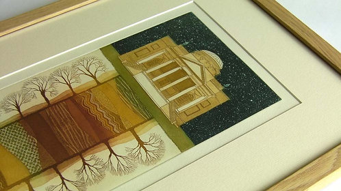 The Long Walk etching framed