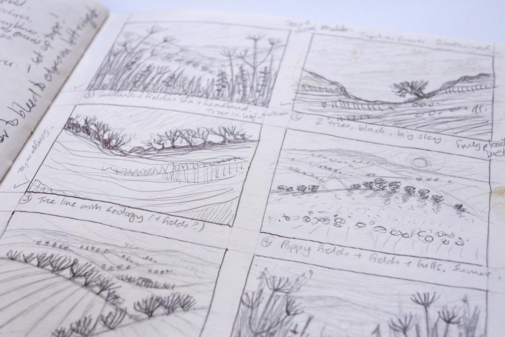 Sketchbook drawings Rebecca Vincent