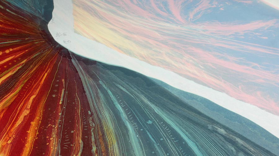 Sycamore Gap Rebecca Vincent painting work in progress