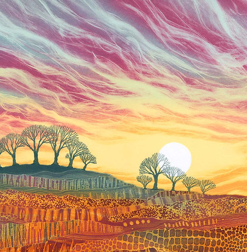 Northumberland artist Rebecca Vincent daybreak greetings card UK printmaker