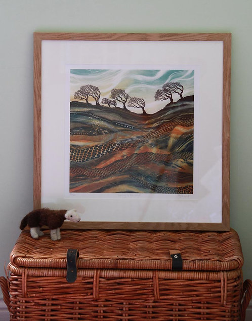 Waving in the Wind giclée print framed