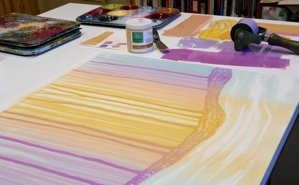 Rebecca Vincent studio The Hearth Horsley Northumberland artist printmaker