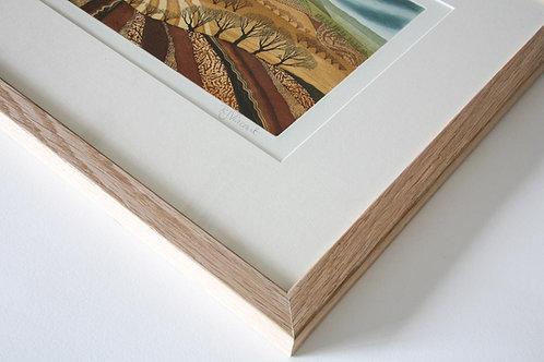 Shepherd's Cottage etching framed