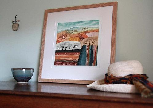 Rift Valley etching framed