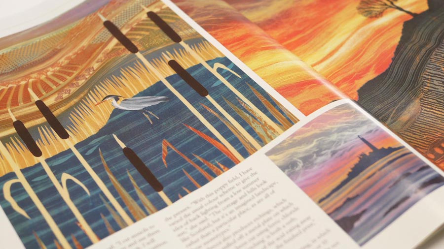 Tyne Valley Living magazine Rebecca Vincent feature Northumberland Art