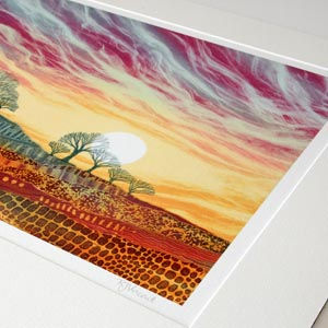 Rebecca Vincent Daybreak giclee print mounted. What is a giclee print?