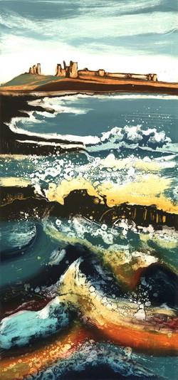 Crashing Waves Dunstanburghhumberland artist Rebecca Vincent