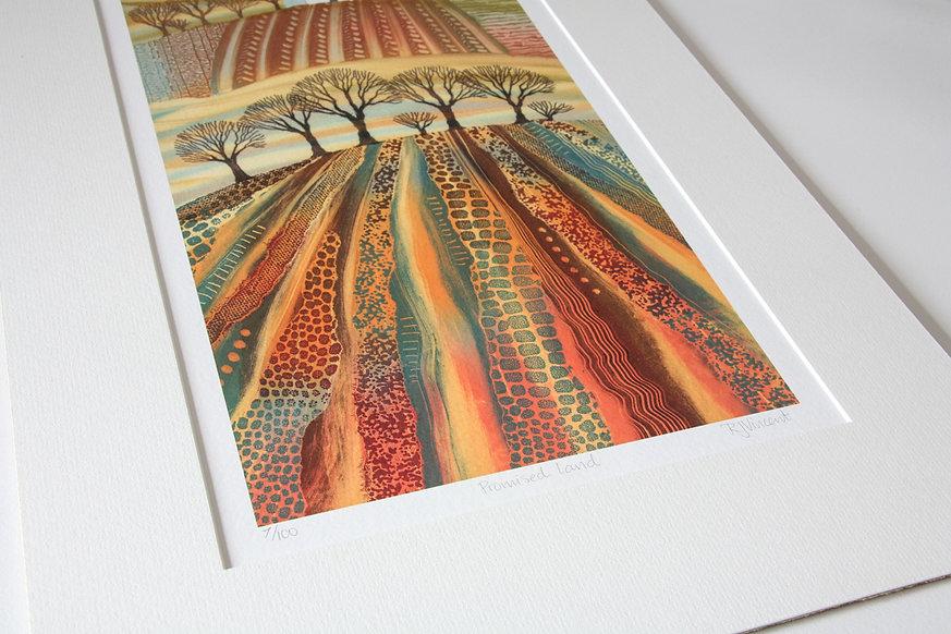 Rebecca Vincent mounted giclee print Promised Land UK landscape art print