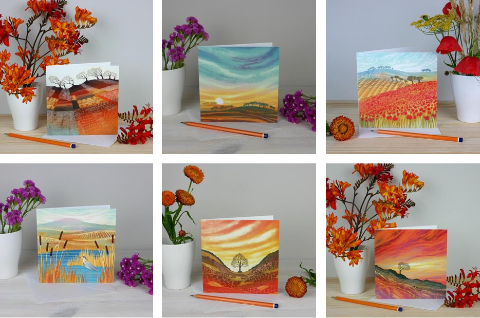 Rebecca Vincent greetings cards in context photographs showing scale