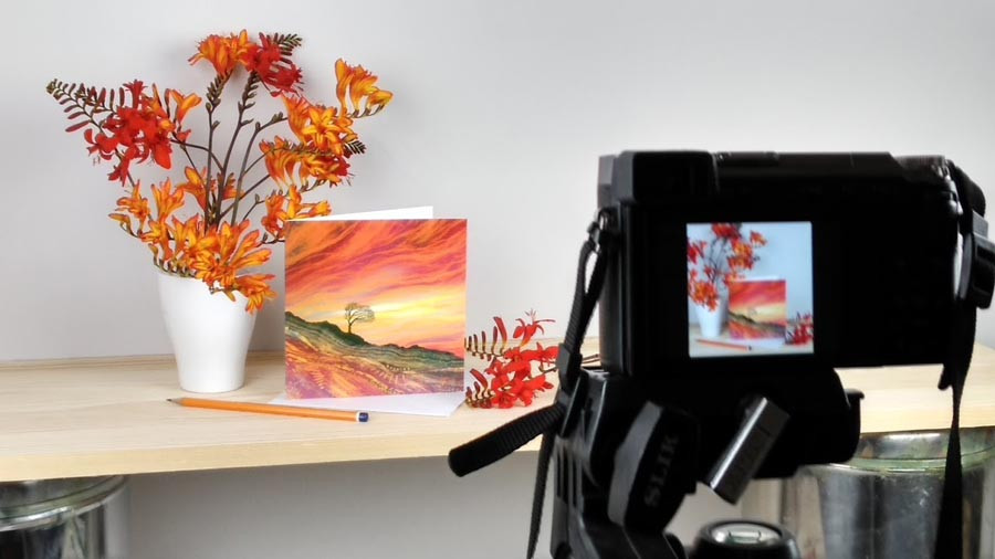 Rebecca Vincent in context art photography set up