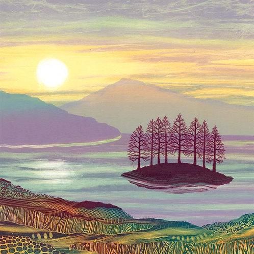 Ullswater Lake District UK landscape artist cards Rebecca Vincent printmaking